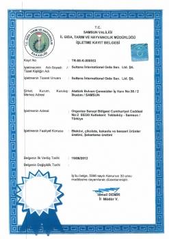 İl Gıda Tarım ve Hayvancılık Müdürlüğü İşletme Kayıt Belgesi