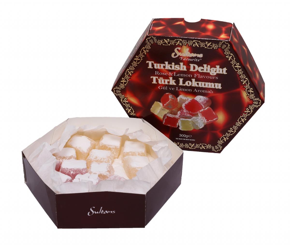 Gül ve Limon Aromalı Türk Lokumu